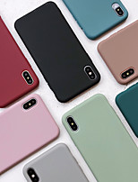 cheap -Case For Apple iPhone 11 / iPhone 11 Pro / iPhone 11 Pro Max Shockproof / Ultra-thin Back Cover Solid Colored TPU