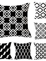 Недорогие -6 шт. Декоративная подушка простой классический 45 * 45 см подушка винтаж круг обложка диван домашний декор бросить наволочку