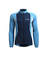 cheap -Jaggad Men's Long Sleeve Cycling Jersey Dark Navy Patchwork Bike Jersey Top Mountain Bike MTB Road Bike Cycling Breathable Quick Dry Sweat-wicking Sports Clothing Apparel / Stretchy / Triathlon
