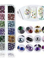 Недорогие -1 pcs Разная конструкция Стразы Стразы для ногтей Кристаллы Назначение Маникюр 3D маникюр Маникюр педикюр Повседневные Мода