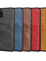 cheap -Case For Apple iPhone  7/8/7P/8P/X/XS/XR/XS Max/11/11 Pro/11 Pro Max/SE 2020 Card Holder / Shockproof Back Cover Solid Colored PU Leather