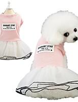 Недорогие -Собаки Платья Одежда для собак Розовый Черный Костюм Хаски Лабрадор аляскинского маламута Хлопок В полоску Милый стиль XS S M L XL