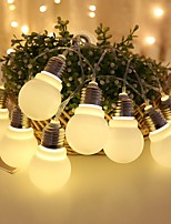 cheap -1.5m String Lights 10 LEDs 5pcs Warm White Party / Decorative 5 V