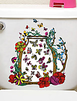 cheap -Animals / Floral / Botanical Wall Stickers Animal Wall Stickers Decorative Wall Stickers, PVC Home Decoration Wall Decal Wall / Toilet Decoration 1pc