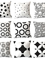 cheap -9 pcs Polyester Pillow Cover, Geometric Geometic Simple Classic Square Traditional Classic