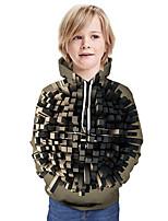 cheap -Kids Boys' Active Basic Color Block 3D Long Sleeve Hoodie & Sweatshirt Black