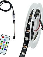 Недорогие -1м гибкие светодиодные полосы света гибкие огни tiktok 30 светодиодов smd5050 многоцветный декоративный / фон для ТВ 5 В