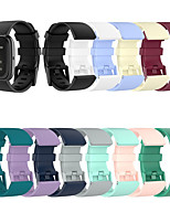cheap -Watch Band for Fitbit Versa / Fitbit Versa Lite / Fitbit Versa2 Fitbit Classic Buckle Silicone Wrist Strap