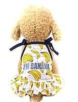 cheap -Dog Cat Dress Vest Dog Clothes Yellow Gold Costume Husky Golden Retriever Dalmatian Mesh Fruit Stylish Cute XS S M L XL
