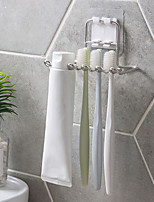 Недорогие -держатель зубной щетки из нержавеющей стали стеллаж для хранения бритвы зубная щетка полка держатель зубной пасты аксессуары для ванной комнаты организатор