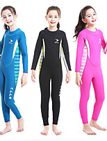 cheap -ZCCO Girls' Full Wetsuit 2.5mm SCR Neoprene Diving Suit Long Sleeve Back Zip Solid Colored Autumn / Fall Spring Summer / Winter / High Elasticity / Kids