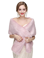 cheap -2020 Women's Sleeveless Shawls Faux Fur Party Evening Shawl & Wrap with Button