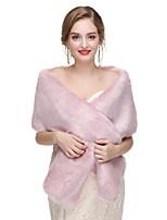 Недорогие -2020 женский платок без рукавов из искусственного меха, вечерний платок и пуговица с пуговицей