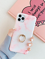 cheap -Case For Apple iPhone 11 / iPhone 11 Pro / iPhone 11 Pro Max Ring Holder Back Cover Marble TPU for IPhone SE 2020 / X / XR / XS / XS Max / 7 Plus / 8Plus / 7 / 8