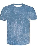 cheap -Kids Boys' Basic Color Block 3D Print Short Sleeve Tee Blue
