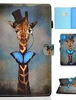 cheap -Case For Apple iPad Air/iPad Mini 3/2/1/4/5 Card Holder / Flip / Pattern Full Body Cases Animal PU Leather For iPad Air 10.5 2019/iPad 10.2/Pro 11 2020/iPad 2017/iPad 2018