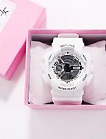 cheap -Women's Quartz Watches Fashion Black White Silicone Chinese Quartz Golden+Black Golden+White White+Silver Punk 30 m 1 pc Analog One Year Battery Life