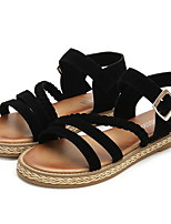 cheap -Women's Sandals Flat Heel Round Toe PU Spring & Summer Almond / Brown / Black