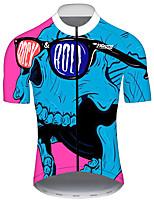 Недорогие -21Grams Муж. С короткими рукавами Велокофты Красный + синий Велоспорт Джерси Верхняя часть Горные велосипеды Шоссейные велосипеды Устойчивость к УФ Дышащий Быстровысыхающий Виды спорта Одежда