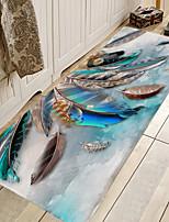 cheap -1pc Modern Feather Pattern Bath Mats / Bath Rugs Coral Velve Geometric / Abstract 5mm Bathroom New Design
