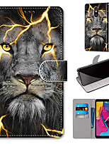 cheap -Case For Motorola Moto G8 Play / Moto G8 Plus / MOTO E6 plus Wallet / Card Holder / with Stand Full Body Cases Fission Lion PU Leather / TPU for MOTO E6 Play / MOTO G7 / MOTO G7 Plus