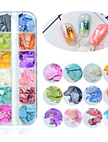 Недорогие -1 pcs Разная конструкция / Универсальный Раковина каури Стразы для ногтей Назначение Маникюр 3D Морская раковина маникюр Маникюр педикюр Повседневные корейский / Цветной