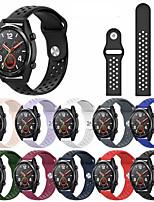 Недорогие -Ремешок для часов для Gear S3 Classic / Huawei Watch GT / Vivoactive 3 Samsung Galaxy / Huawei Спортивный ремешок силиконовый Повязка на запястье