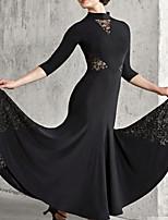 cheap -Ballroom Dance Dress Pleats Women's Performance 3/4 Length Sleeve Polyester Taffeta