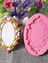 Недорогие -3d зеркало ретро фоторамка фондант силиконовые формы выпечки инструмент 1 шт.