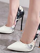 Недорогие -Жен. Обувь на каблуках На шпильке Заостренный носок Полиуретан Весна лето Черный