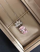 Недорогие -10 карат Синтетический алмаз Цепочка Сплав Назначение Жен. Античный Роскошь В виде подвески Элегантный стиль Свадьба Вечерние Официальные Высокое качество Классический