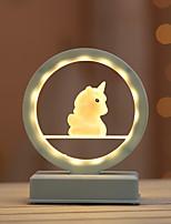 Недорогие -Unicorn Декоративное освещение Светодиодный ночник Для детей / Творчество / обожаемый Включение / выключение День святого Валентина / Рождество Аккумуляторы AAA 1шт