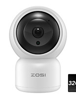cheap -ZOSI 1080P Pan & Tilt 4X Digital Zoom WiFi IP Camera Baby Monitor Two-Way Audio 49ft Night Vision with 32G SD Card