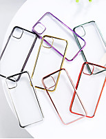 cheap -Case For Apple iPhone 7 / 8/7P/8P/X/Xs/Xr/Xs Max/11/11pro/11pro Max Plating Back Cover Transparent TPU