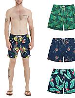 Недорогие -Муж. Купальные шорты Обтягивающие длинные шорты Нижняя часть Дышащий Быстровысыхающий Кулиска - Плавание Пляж  Водные виды спорта 3D-печати Лето / Слабоэластичная