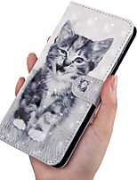 cheap -Case For Samsung Galaxy A5(2018) / A6 (2018) / A6+ (2018) Wallet / Card Holder / with Stand Full Body Cases Cat PU Leather