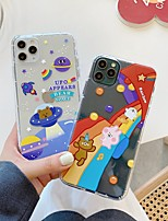 Недорогие -для яблока iphone 11 11pro 11promax 8p x xs xsmax xr 6p 6 7 8 простое пространство медведь шаблон высокая прозрачность тпу материал чехол для телефона
