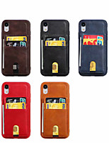 cheap -Case For Apple iPhone XR / iPhone 6s Plus / iphone 7Plus / 8Plus Shockproof Back Cover Tile Genuine Leather / TPU