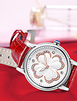 cheap -Women's Quartz Watches Luxury Fashion Genuine Leather Japanese Quartz Red White Water Resistant / Waterproof 30 m 1 pc Analog One Year Battery Life