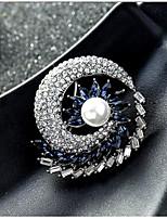 Недорогие -женские цирконий броши классическая скрепка для бумаг стильная простая классическая брошь ювелирные изделия золото серебро для вечеринки подарок повседневная работа фестиваль