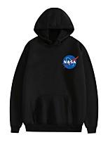 Недорогие -Вдохновлен Галактика НАСА Косплэй Kостюмы Толстовка Чистый хлопок С принтом Рисунок Толстовка Назначение Муж. / Жен.
