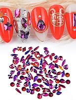 Недорогие -1*100 pcs Многофункциональный Стразы Стразы для ногтей Назначение Маникюр Фантастика 3D маникюр Маникюр педикюр Повседневные Мода