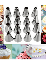 cheap -Stainless Steel Decorating Mouth 16 Piece Set With Converter And Decorating Bag Set Cookie DIY