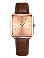 cheap -Women's Quartz Watches Casual Fashion Stainless Steel Genuine Leather Japanese Quartz Rose Gold Golden / Brown White / Black Water Resistant / Waterproof 30 m 1 pc Analog One Year Battery Life