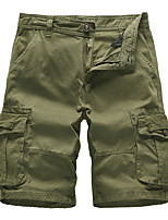 cheap -Men's Hiking Shorts Outdoor Breathable Quick Dry Ultra Light (UL) Sweat-wicking Cotton Shorts Bottoms Hunting Fishing Climbing Army Green Grey Khaki 30 32 34 36 38 Standard Fit / Wear Resistance
