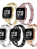 Недорогие -Ремешок для часов для Fitbit Versa / Fitbit Versa 2 Fitbit Дизайн украшения Нержавеющая сталь Повязка на запястье