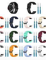 Недорогие -Ремешок для часов для Fenix6 / Fenix6X Garmin Спортивный ремешок силиконовый Повязка на запястье