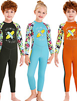 cheap -Dive&Sail Boys' Girls' Full Wetsuit 2.5mm SCR Neoprene Diving Suit Anatomic Design Long Sleeve Back Zip Patchwork Autumn / Fall Spring Summer / Winter / High Elasticity / Kids