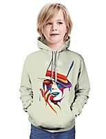 cheap -Kids Boys' Active Basic Color Block 3D Long Sleeve Hoodie & Sweatshirt White