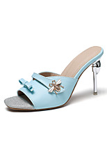 cheap -Women's Sandals Stiletto Heel Open Toe Sparkling Glitter PU Classic Spring & Summer Yellow / Green / Blue / Party & Evening